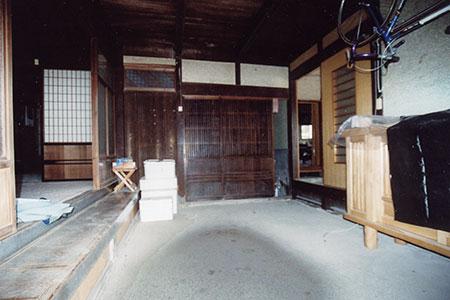 古民家リフォーム前玄関