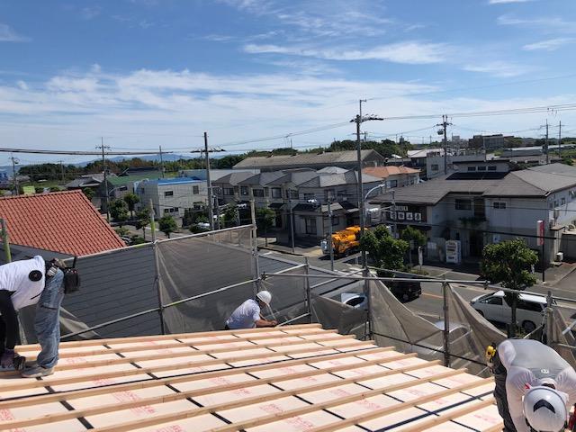 外断熱の屋根