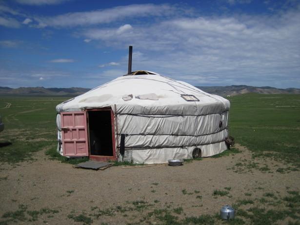 モンゴルでも使う羊の毛の断熱
