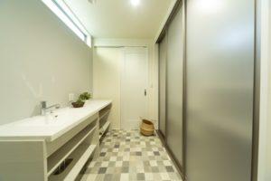 神戸市西区の脱衣室の施工事例