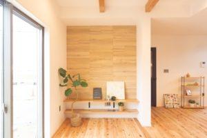 神戸市西区の木の家のエコカラットの壁