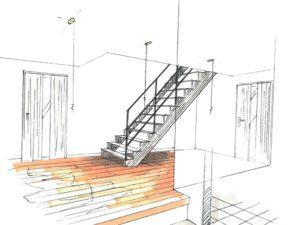 注文住宅の内装イラスト