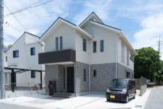 神戸市西区の吹抜けのある家の外観