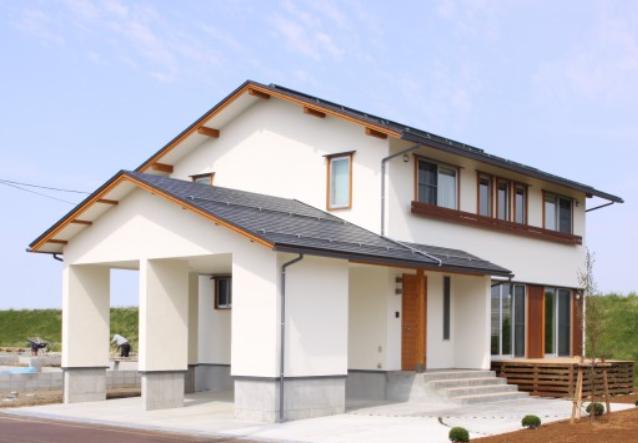 自然素材住宅の画像
