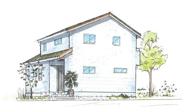 明石市の注文住宅のパース