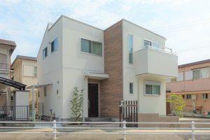 神戸市西区の注文住宅の外観