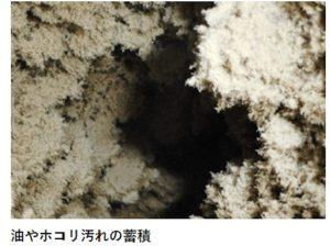 エアコンのダクト内部