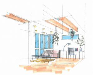 神戸市の完成見学会のイラスト