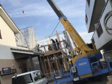 神戸の注文住宅の上棟