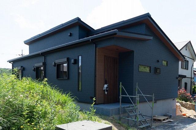 完成した平屋の家