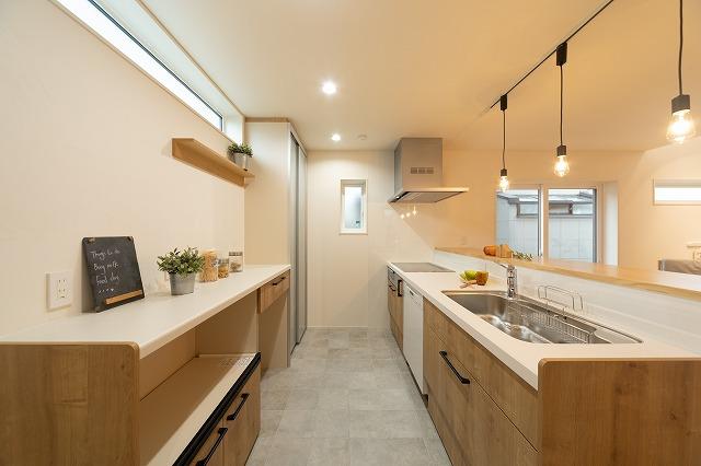 神戸市注文住宅間取 キッチンの画像